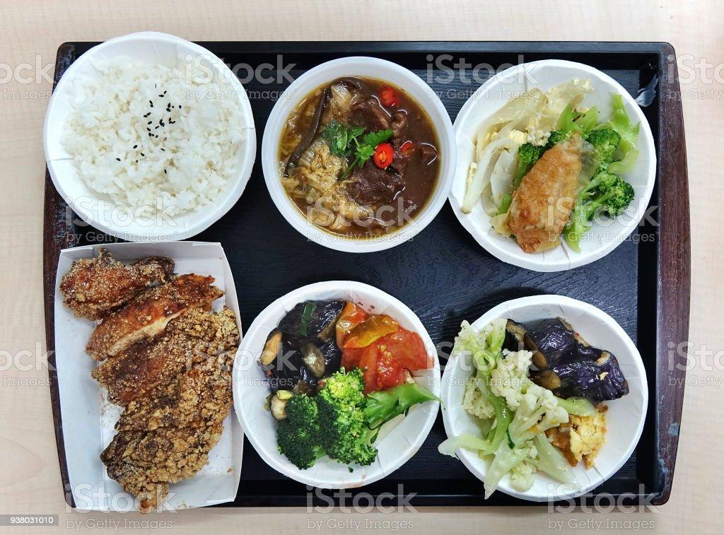 Chinese Lunch Set Menu stock photo