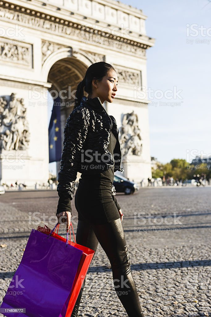 Chinese luxury shopping in Paris royalty-free stock photo