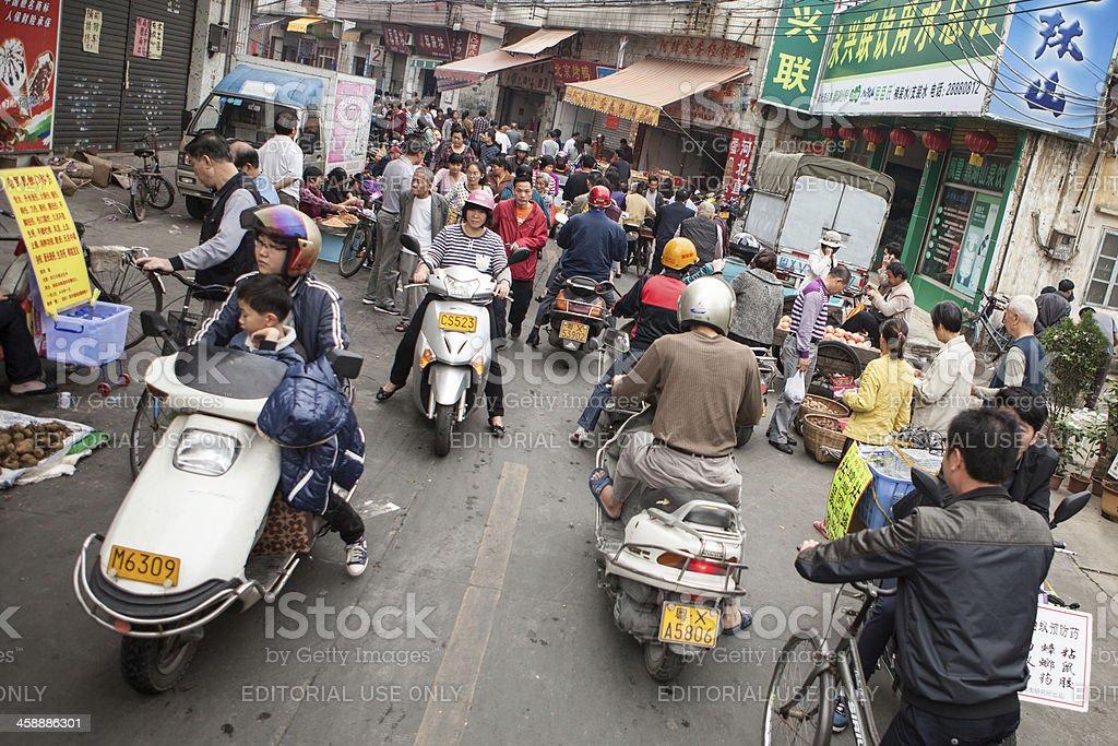Chinese market street stock photo
