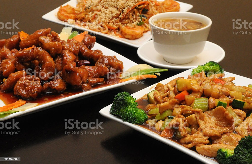 Chinese Meal Combo Waiting stock photo