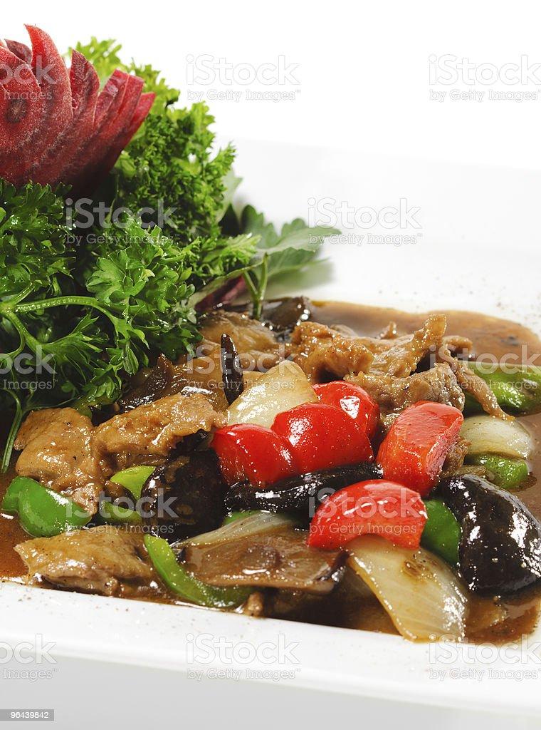 Chinese - Meat with Black Fungus - Royalty-free Avondmaaltijd Stockfoto