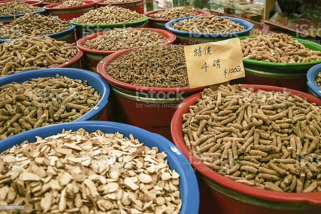 Chinese Medicinal Roots royalty-free stock photo