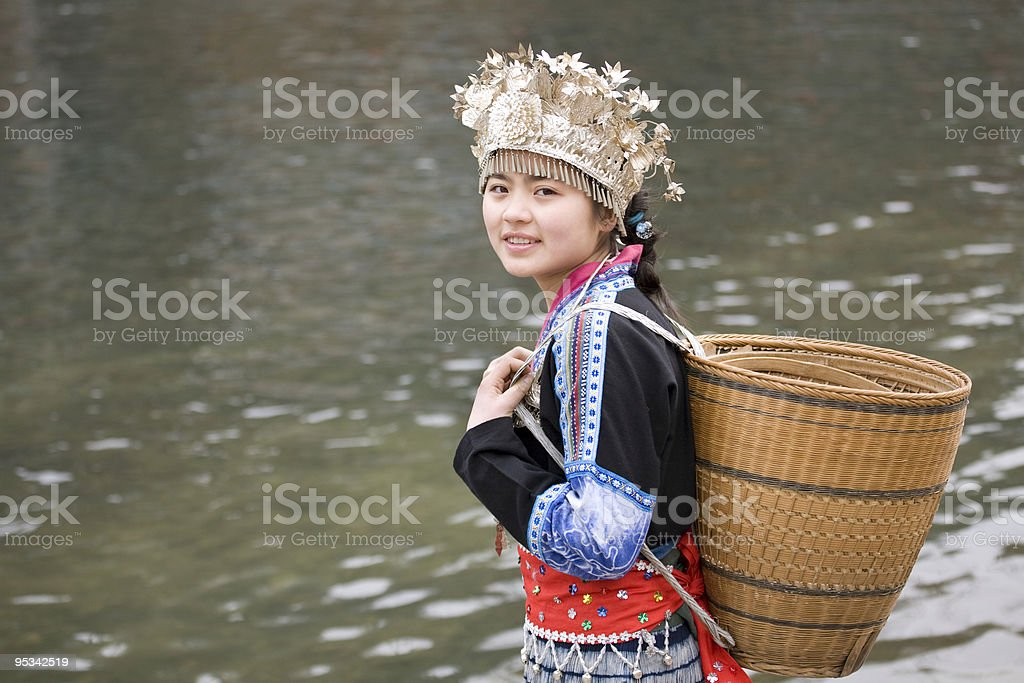 Chinese Minority Girl stock photo
