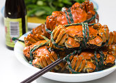 """""""Chinese Traditional food - Chinese mitten crab,also known as the big sluice crab (Chinese: YAAaEA) and Shanghai hairy crab(Chinese: A 