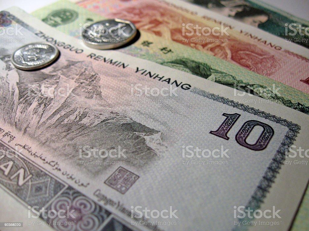 Chinese money royalty-free stock photo