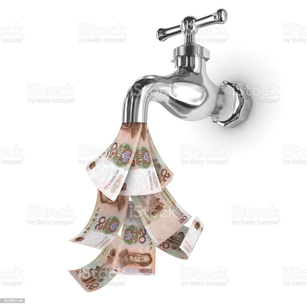 Chinese money rmb faucet cash flow stock photo more pictures of chinese money rmb faucet cash flow royalty free stock photo buycottarizona Gallery