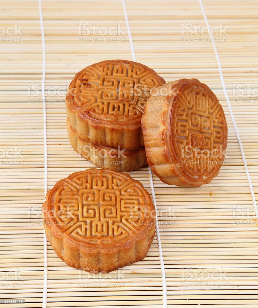 Chinese moon cakes royalty-free stock photo