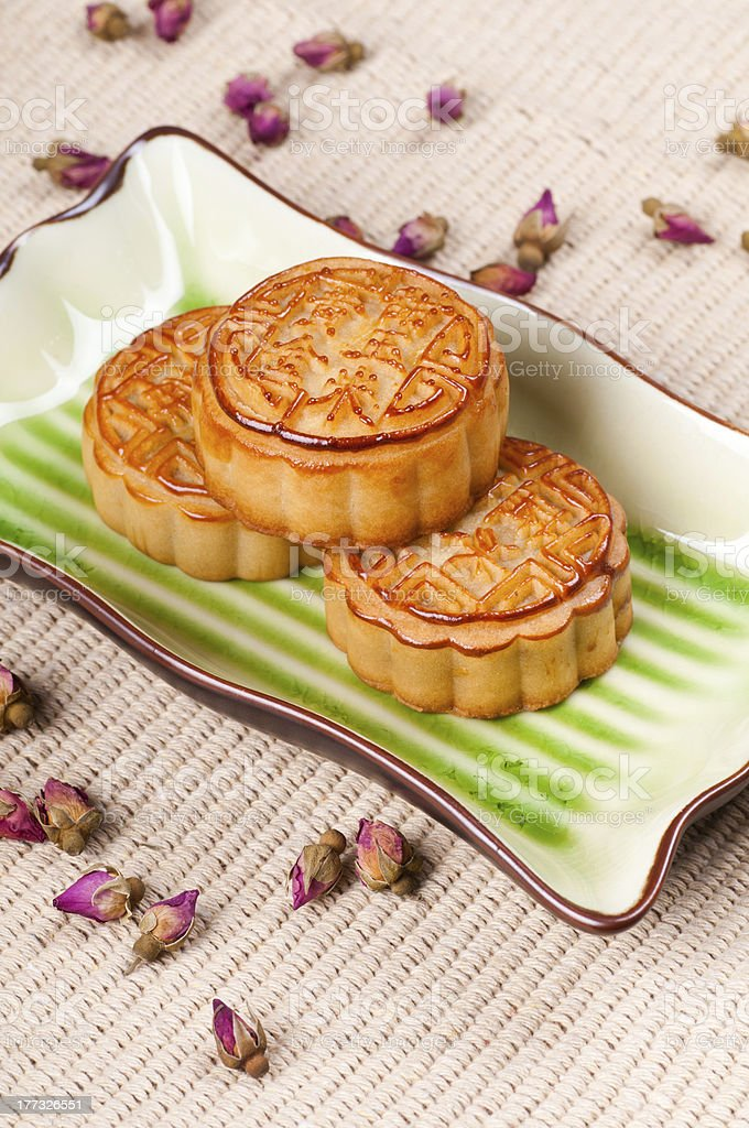 Chinese Mooncake stock photo