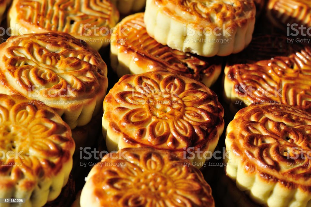 chinese mooncake stock photo