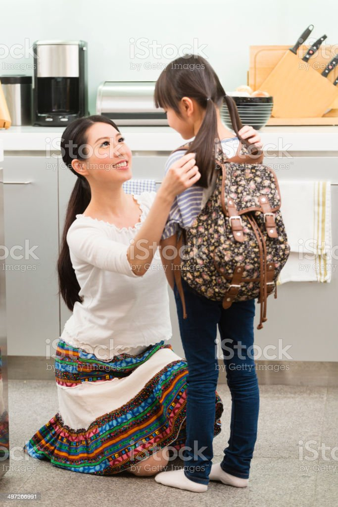 Chinese Mother and Daughter royalty-free stock photo