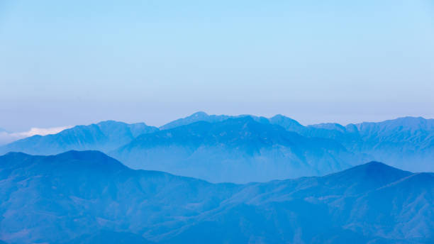 Chinese mountains, aerial view stock photo
