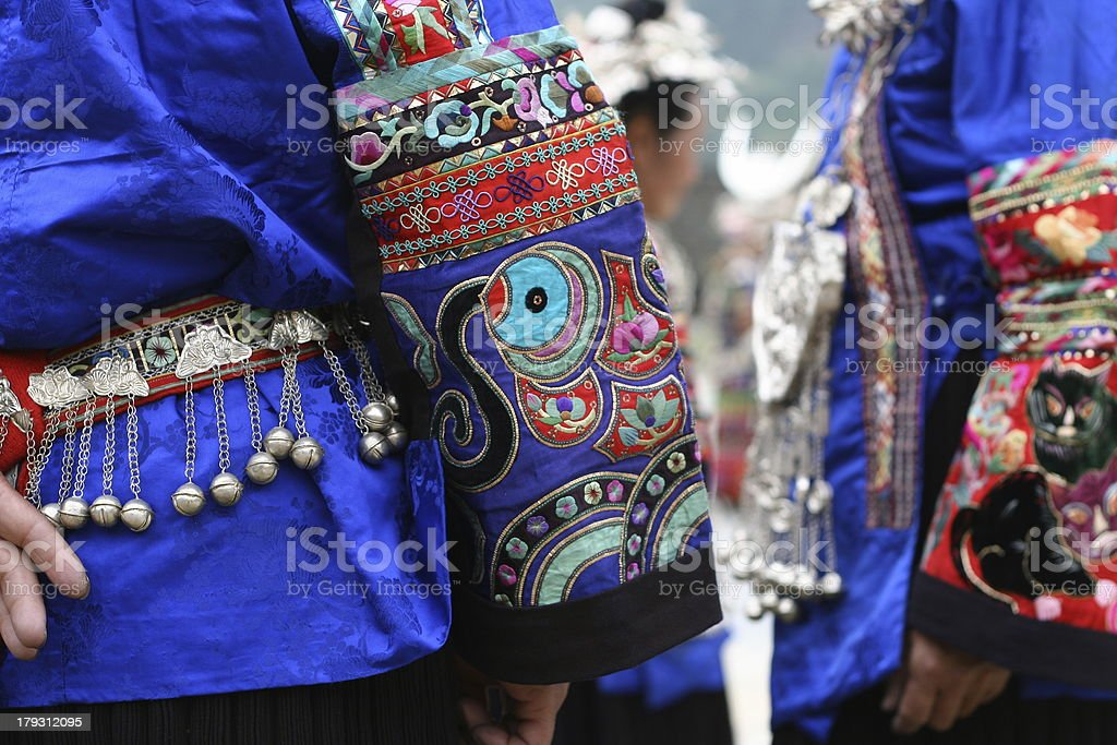 Chinese national minority clothing royalty-free stock photo