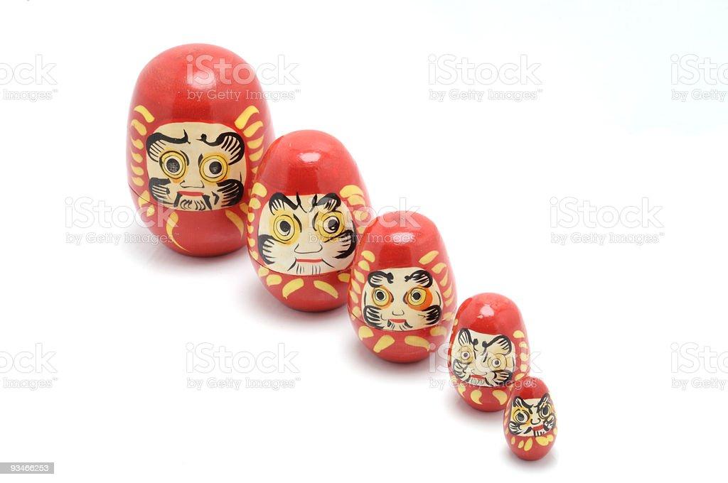 Chinese Nesting Dolls (matryoshkas) Toy royalty-free stock photo