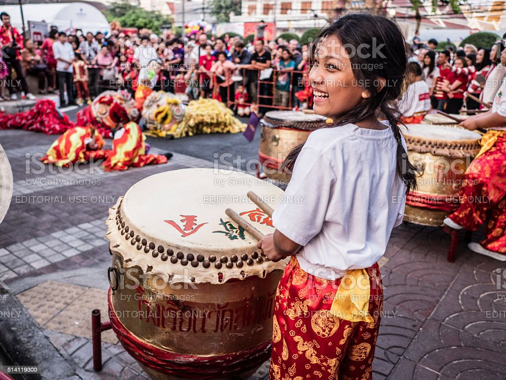 Chinese New Year celebration Chinatown Bangkok royalty-free stock photo