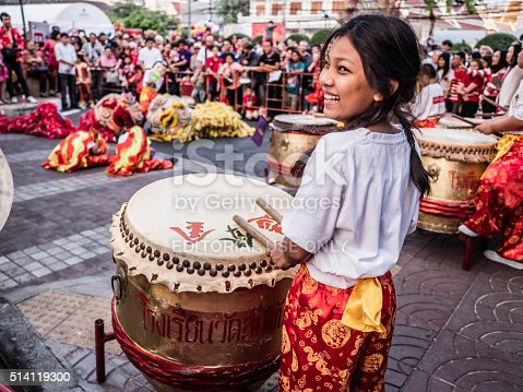 Chinese New Year Celebration Chinatown Bangkok Stock Photo & More Pictures of Arts Culture and Entertainment