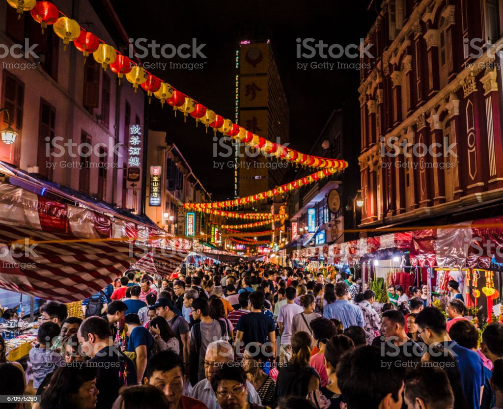 Chinese New Year Chinatown Singapore stock photo