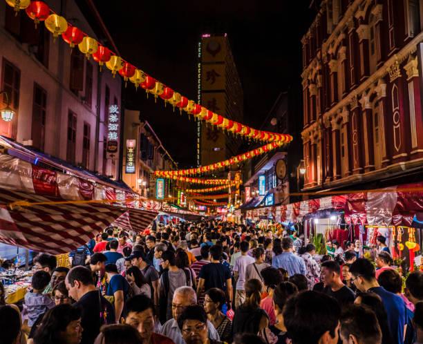 año nuevo chino chinatown singapur - singapur fotografías e imágenes de stock