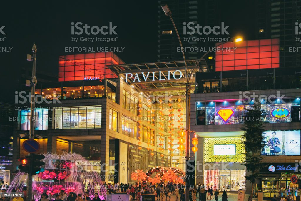 Chinese New Year decoration in the Pavilion shopping mall in Kuala Lumpur, Malaysia stock photo
