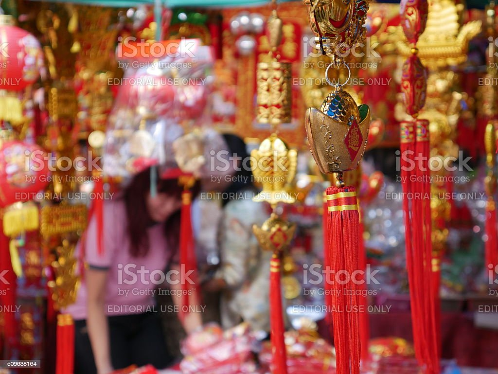Chinese New Year decorations stock photo