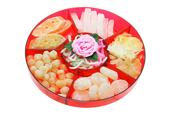 chinese new year delicacies stock photo - Chinese New Year Candy