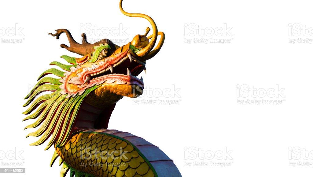 chinese new year dragon decoration on white backgroundchinese