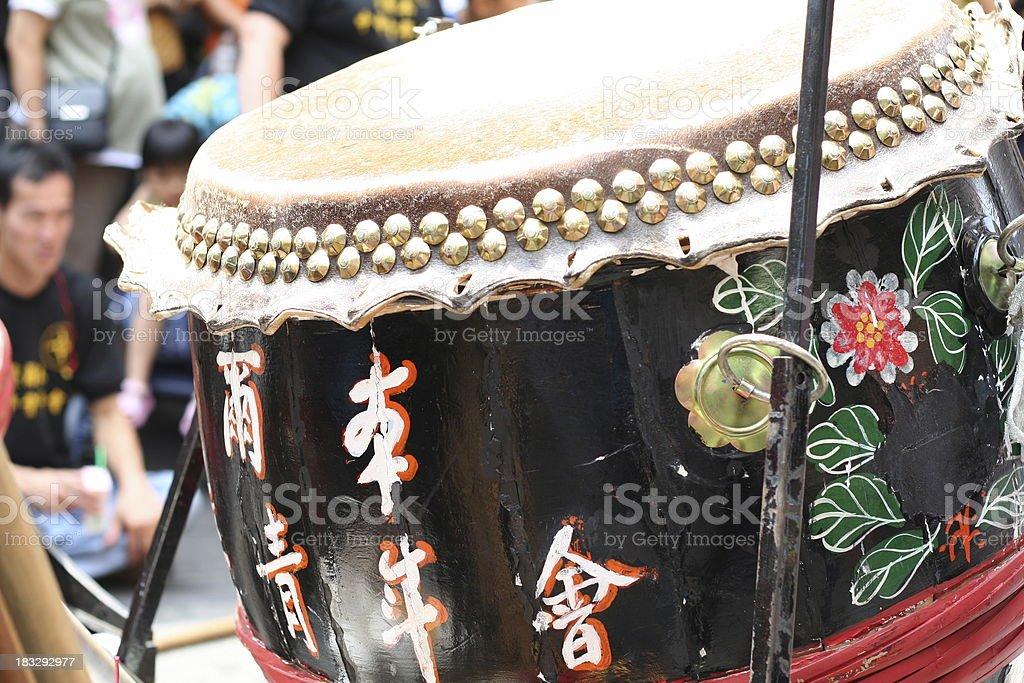 Chinese New Year Drum royalty-free stock photo