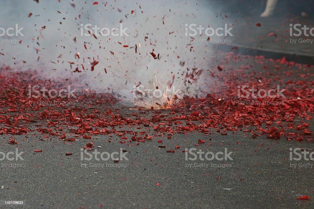 Chinese New Year fireworks stock photo