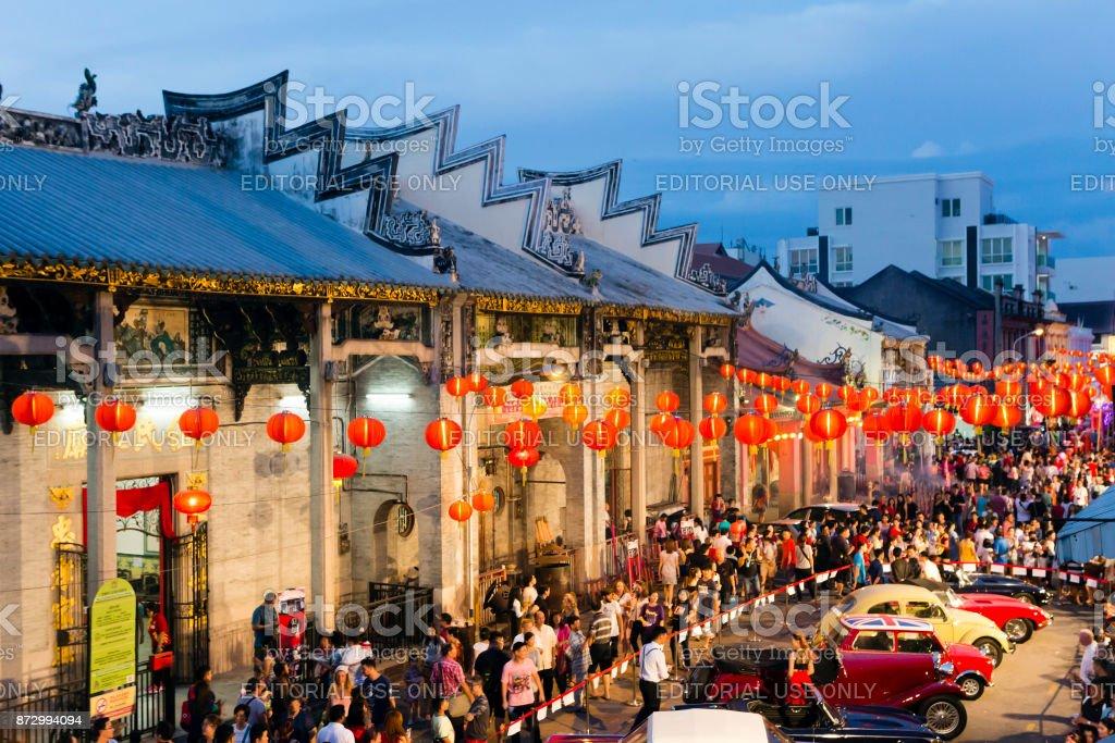 Chinese New Year Georgetown Penang Malaysia stock photo