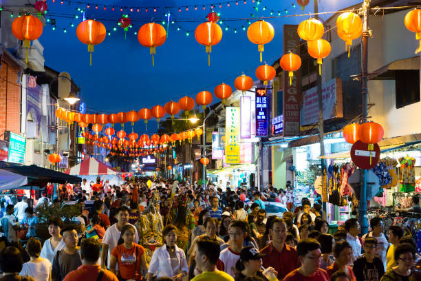 Chinese New Year Georgetown Penang Malaysia – Foto