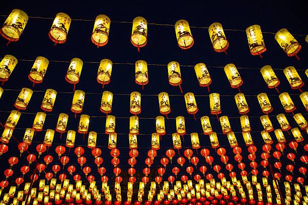 nouvel an chinois 2015, des lanternes - année du mouton photos et images de collection