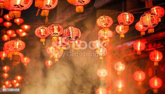 istock Chinese new year lanterns in chinatown 637086458