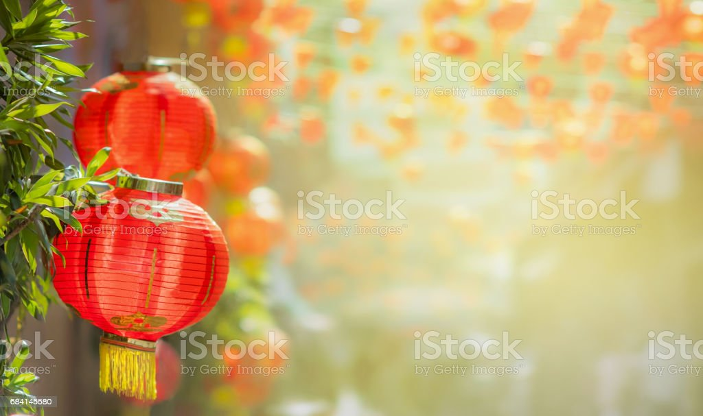 Chinese new year lanterns in chinatown foto stock royalty-free