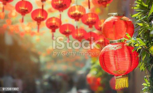 istock Chinese new year lanterns in chinatown 912061992