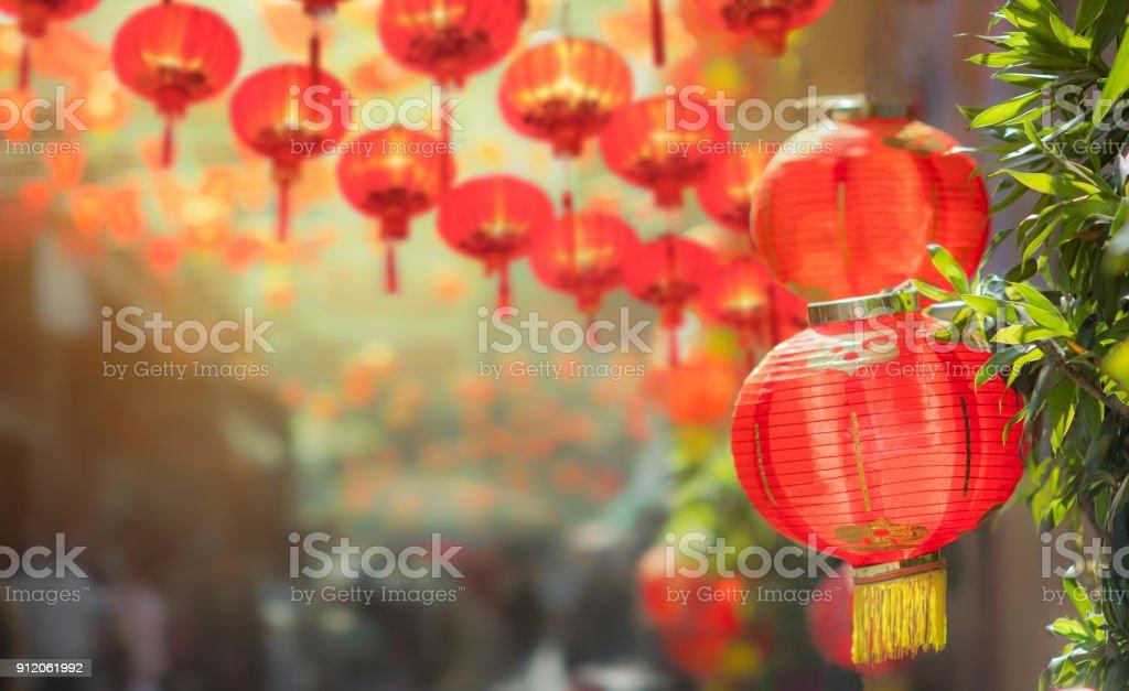 Chinesisches Neujahr-Laternen in chinatown – Foto