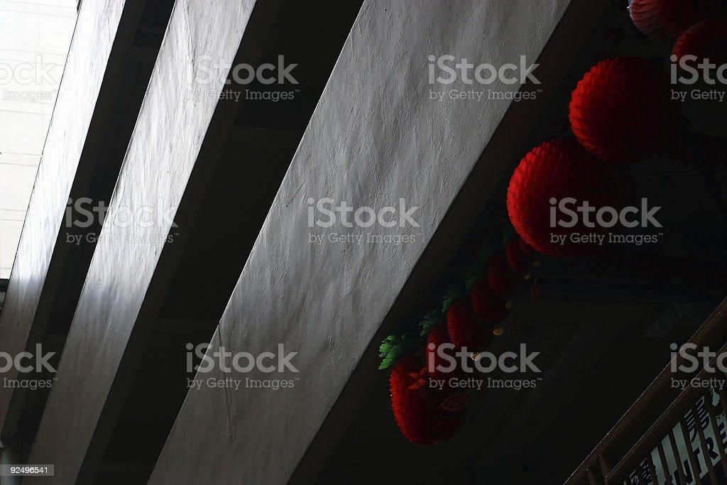 Chinese New Year: Lanterns in Singapore royalty-free stock photo