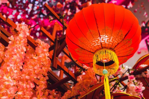 laternen chinesisches neujahr - weihnachten vietnam stock-fotos und bilder