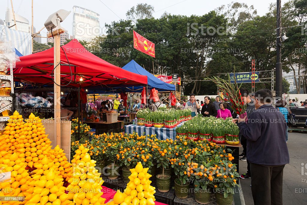 Chinese New Year Market in Hong Kong royalty-free stock photo