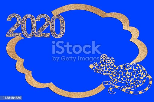 1176499937 istock photo Chinese New Year. Paper frame with rat and numbers 2020 1158484689