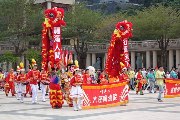 Chinese New Year Parade at Fo Guang Shan stock photo