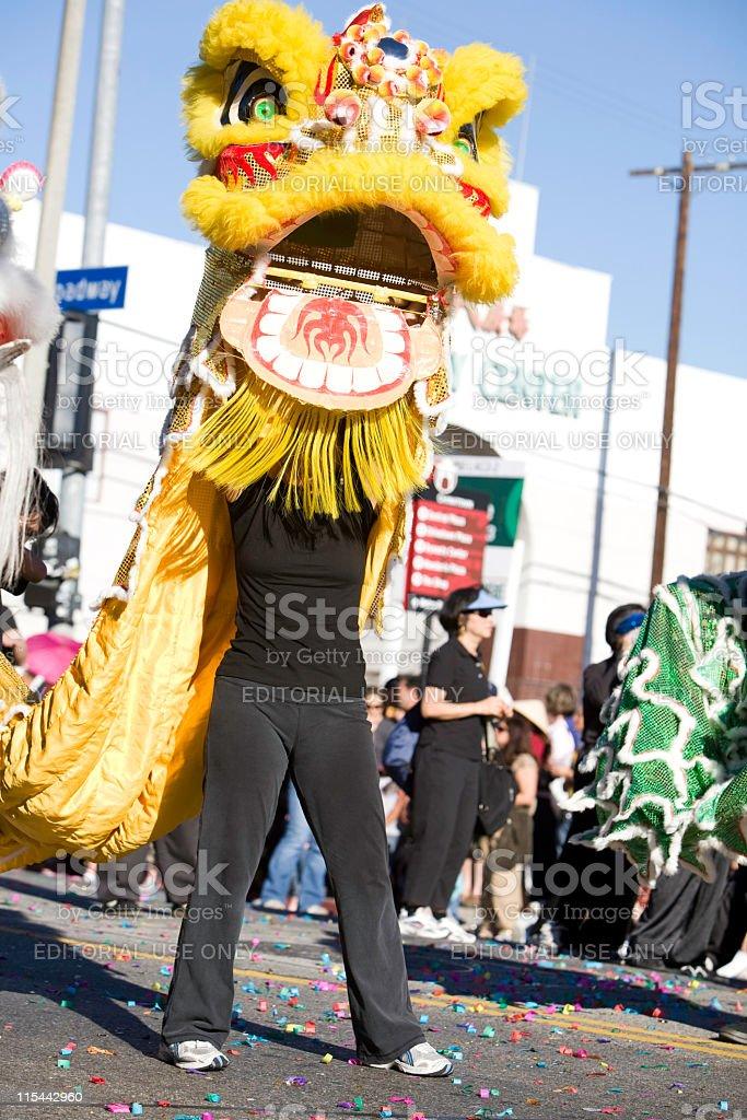 Chinese New Year Parade Dragon stock photo