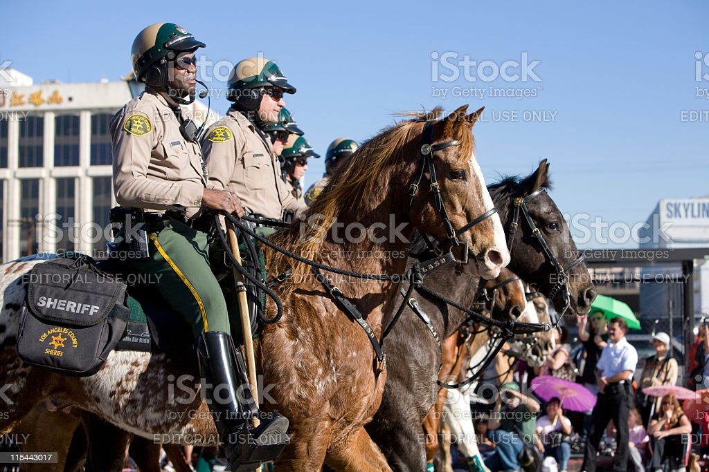 Chinese New Year Parade Mounted Police stock photo