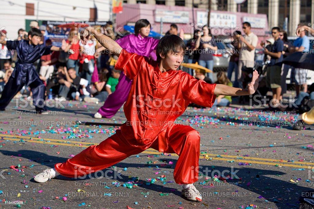Chinese New Year Parade Wushu Practitioner 1 stock photo