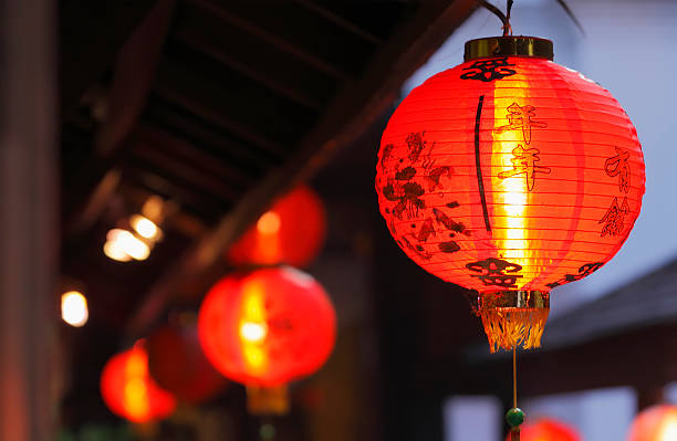 chinese new year - rislampa bildbanksfoton och bilder