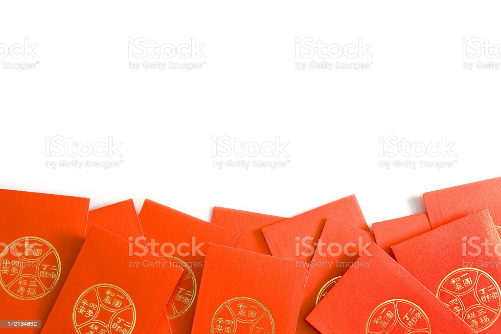Chinese New Year Red Envelope Border royalty-free stock photo