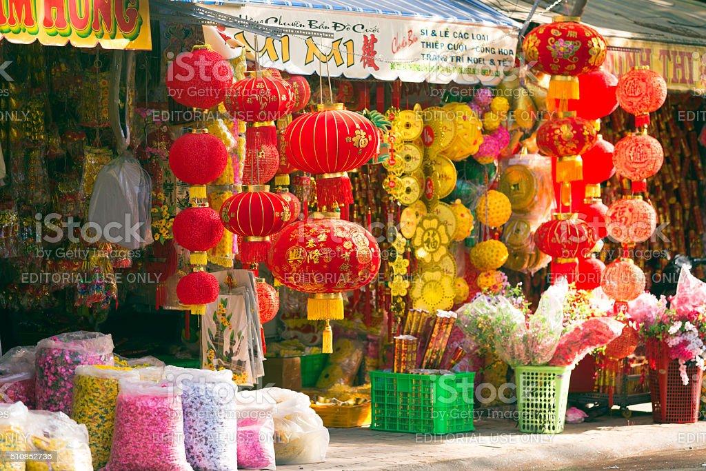 Chinese New Year Tet Ho Chi Minh City stock photo