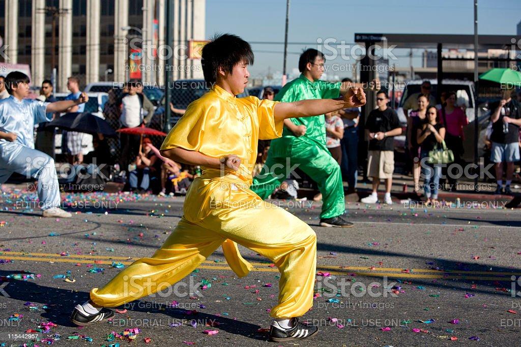 Chinese New Year Wushu stock photo