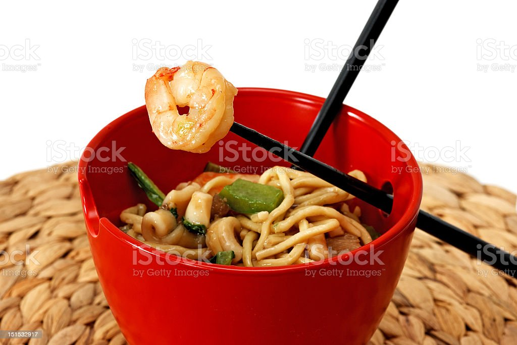 Chinese noodle soup royalty-free stock photo