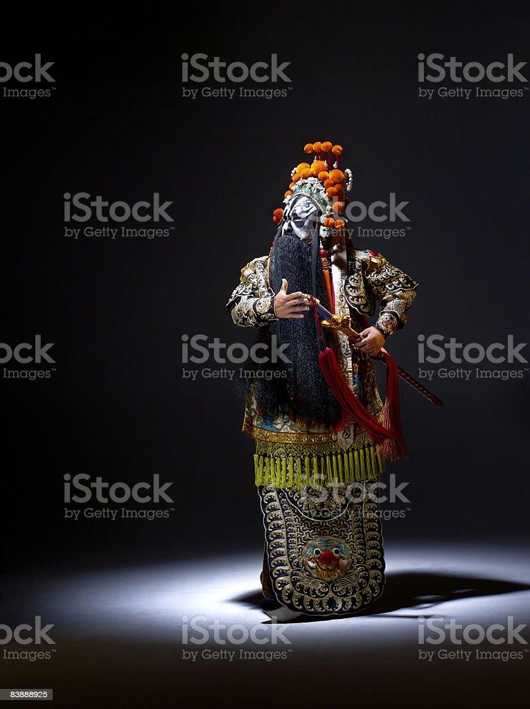 Chinese opera character (Ba Wang) royaltyfri bildbanksbilder