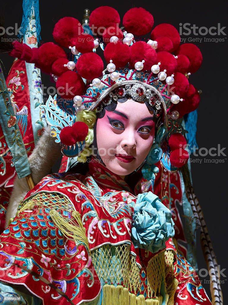 Chinese opera character (Mu Gui Ying) royalty-free stock photo