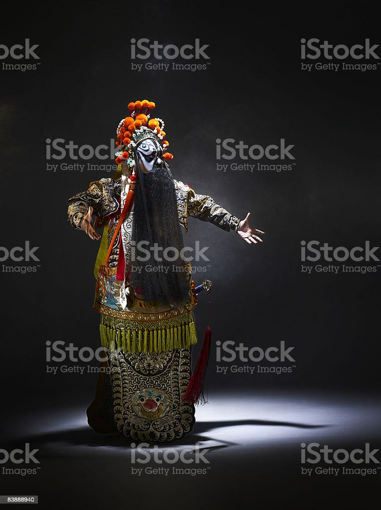 Chinese opera character (Ba Wang) royalty free stockfoto